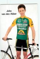 John VAN DEN AKKER .  Cyclisme. 2 Scans. Gouden Leeuw - Wielrennen