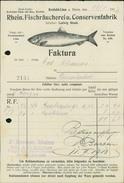 Krefeld-Linn, Rhein. Fischräucherei U. Conservenfabrik, Rechnung Vom 28.1.1913 (4050-13) - 1900 – 1949