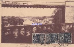CPSM 9X14  De  TONNAY CHARENTE    (17) - TERRASSE De La COLONIE De PLEIN AIR - BEAUX TIMBRES   N° 6997    édit BERGEVIN - Francia