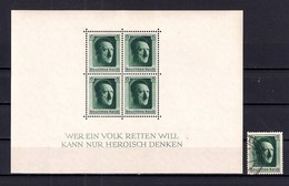 1937. Block 7 MNH** + Used Stamp.  (50=) - Blocs