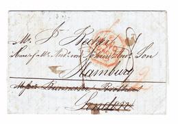 Venezuela 1842 Falt-Brief LA GUAYRA Nach Hamburg An Londonder Forwarder Burmeister Dann Hamburg 12.11.1842 FBO - Venezuela