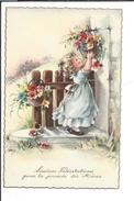 16704 - Sincères Félicitations Pour La Journée Des Mères Fillette Et Paniers De Fleurs - Fête Des Mères