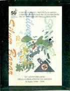 AREZZO-50° LIBERAZIONE-MARCOFILIA-ANNULLO MECCANICO-TARGHETTE - Eventi