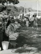 PAPEETE TAHITI Le Port Par Victor Borlandelli Vers 1960 - Lieux