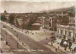 Y2657 Messina - Corso Garibaldi E Via Cesare Battisti - Panorama / Viaggiata 1949 - Messina