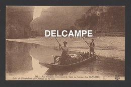DF / 48 LOZÈRE / GORGES DU TARN / UN TROUPEAU TRAVERSANT LE TARN AU CIRQUE DES BEAUMES / ANIMÉE - Gorges Du Tarn