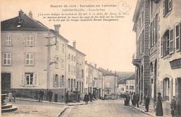 54 - Badonviller - Grande Rue Animée - Invasion En Lorraine - Guerre 1914 - France