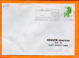 LOIRE, St Etienne, Flamme SCOTEM N° 10238b, 22 Sept-2 Octobre 1989, Foire De St Etienne - Postmark Collection (Covers)