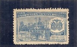 ERINNOPHILIE - Vignette Exposition Universelle PARIS 1900 - Non Gommée -  REPUBLIQUE SUD AFRICAINE - Erinnophilie