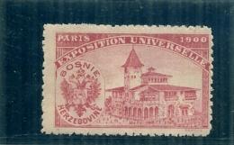 ERINNOPHILIE - Vignette Exposition Universelle PARIS 1900 - Non Gommée -  BOSNIE HERZEGOVINE - Erinnophilie