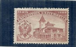 ERINNOPHILIE - Vignette Exposition Universelle PARIS 1900 - Non Gommée -  BOSNIE HERZEGOVINE - Autres