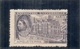 ERINNOPHILIE - Vignette Exposition Universelle PARIS 1900 - Non Gommée - ANGLETERRE - Erinofilia