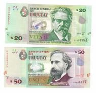 Uruguay Set 20 & 50 New Pesos 2015 UNC - Uruguay
