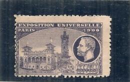 ERINNOPHILIE - Vignette Exposition Universelle PARIS 1900 - Non Gommée -MONACO - Autres