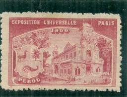 ERINNOPHILIE - Vignette Exposition Universelle PARIS 1900 - Non Gommée - PEROU - Erinofilia