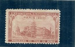 ERINNOPHILIE - Vignette Exposition Universelle PARIS 1900 - Non Gommée -  PANORAMA DU TOUR DU MONDE - Autres