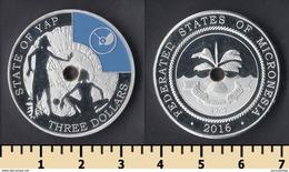 Yap Main Islands 3 Dollars 2016 - Micronesia