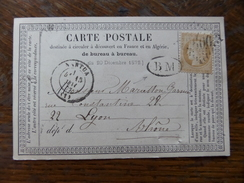 Lot Du 04.05.17_ Carte Precurseur ,rare BM De  Oyonnes, Sur Timbre,cachet Nantua (1),GC 2600,a Voir!! - Postmark Collection (Covers)