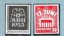 1953  BERLIN GERMANY  INSURREZIONE  2 Valori COMPLETA  MNH** - Neufs