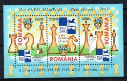 Romania - 2002 - 35th Chess Olympiad Miniature Sheet - MNH