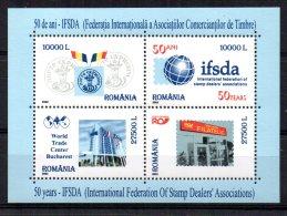 Romania - 2002 - 50th Anniversary Of IFSDA Miniature Sheet - MNH