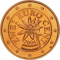 Autriche, 2 Euro Cent, 2004, SPL, Copper Plated Steel, KM:3083 - Autriche