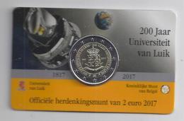 BELGIE - BELGIQUE Coincard 2 € 2017 - 200 Jaar Universiteit Luik - Université De LIege - Belgique