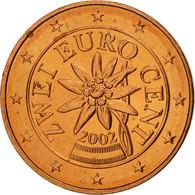 Autriche, 2 Euro Cent, 2002, SPL, Copper Plated Steel, KM:3083 - Autriche