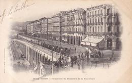 Alger Perspective Du Boulevard De La Republique  Tram Tranvias La Gauloise - Algeri