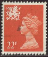GB 1990 Yv. N°1504 - 22p Orange Pays De Galles - Oblitéré - Wales