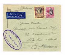GB Kolonie GAMBIA 1938 Kgv 1S UND 1 1/2d Luftpostbrief Von Bathurst Nach Rotterdam - Gambie (...-1964)