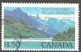 Sc. # 935 National Parks Definitive, Waterton Lakes Single Used 1982 K177