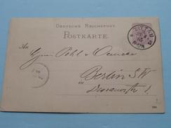 Postkarte / PK / CP () BERLIN < ZITTAU - Anno 1885 ( Zie Foto's ) !! - Oblitérés