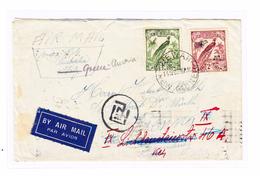 Neuguinea Luftpostbrief 14.11.1938 WEWAK Nach Wien AT Mit Transitstempel Townsville, Athen, Vichtenstein - Papouasie-Nouvelle-Guinée