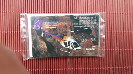 Prepaidcard US Papillon Grand Canyon Helicopter New With Blister 2 Scans  Rare - United States