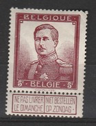 Belgique  N° 122 *
