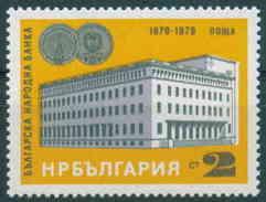 + 2813 Bulgaria 1979  100 Years Bulgarian National Bank, Sofia - Banking Act Cherished Buildings, Commemoratives ** MNH - Bulgarie