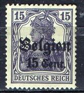 PIA - BELGIO - OCCUPAZIONE TEDESCA - 1916-18 : Francobollo Della Germania Del 1905-16 Sovrastampato  - ( Yv 16) - Guerre 14-18