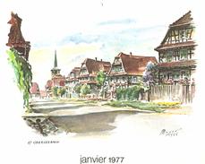 Autres Collections - Reproduction D'aquarelle (extrait D'un Calendrier) - Oberseebach Par Meyer - Aquarelles