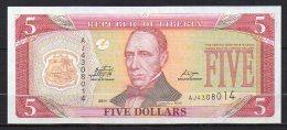 523-Liberia Billet De 5 Dollars 2011 AJ430 Neuf - Liberia