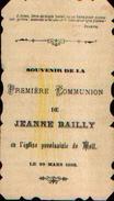 Souvenir De Communion BAILLY Jeanne à MOLL (1903) - Devotion Images
