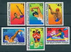 2902 Bulgaria 1979 Sport, , MOSCOW ´ 80 EMBLEM , SWIMMING , ONE MAN KAYAK , DIVING, TWO MAN KAYAK ** MNH Bulgarie - Bulgarie