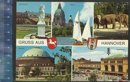 GRUSS AUS HANNOVER  Met Poststempel BRAUNSCHWEIG 1975 En Stempel EXTRA TAKS ANTWERPEN ( Tierpark Zoo Elephant Rathaus ) - Souvenir De...