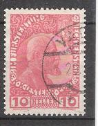 LIECHTENSTEIN 1912, Prince Jean II   YVERT N° 2 , 10 H  ,obl TB Cote 20 Euros