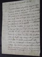 CAROUGE (Genève, Suisse)  - COURRIER Au Soldat Denis Isidor Landrin, Du 17e LEGER, Le 30 Janvier 1848 - Documents