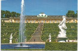POTSDAM.ALLEMAGNE. Le Palais/Château De Sanssouci (palais D'été Du Roi De Prusse Frédéric II) Adressée En ANDORRE - Châteaux