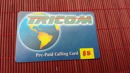 Prepaidcard US Tricom 5 $ Used 2 Scans Rare - United States