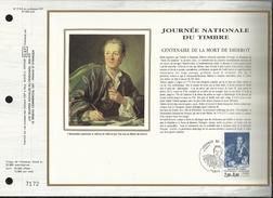N° : 713 S DU CATALOGUE CEF . N° 534 / SOIE  . JOURNEE DU TIMBRE  .  17 MARS  1984 . PARIS . - FDC