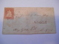 SUISSE - Env Intérieure Affr à 15 Rappen - Petit Format - Papier à Définir - Nov 1899 - P21476 - 1882-1906 Armarios, Helvetia De Pie & UPU