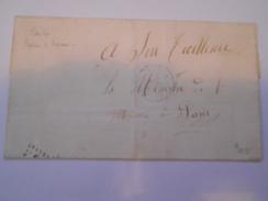 CORSE - Env De Bastia Pour Le Ministre De L'Intérieur à Paris - Par Bateau à Vapeur - Avril 1867 - P21479 - Marcophilie (Lettres)